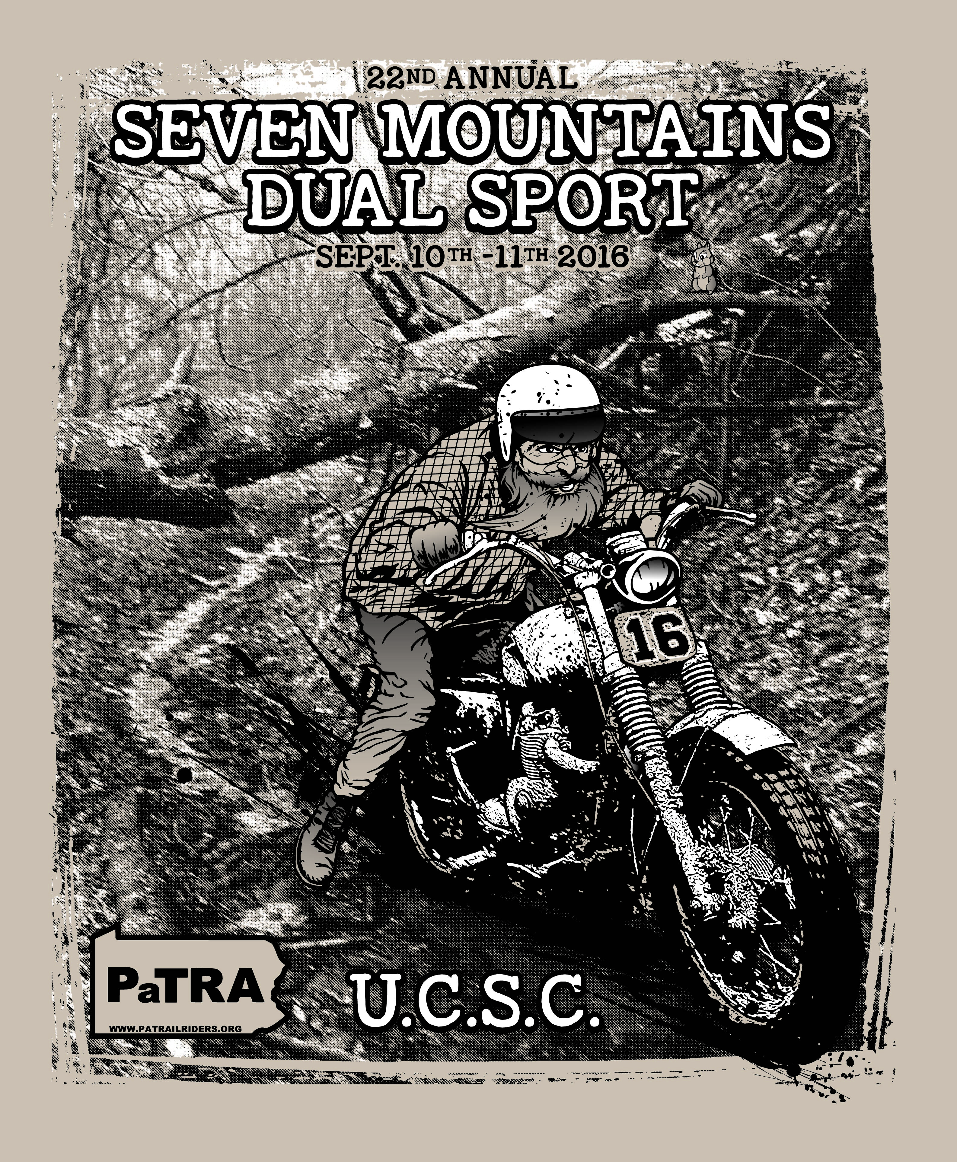 Seven Moutain Dual Sport 2016 graphics poster